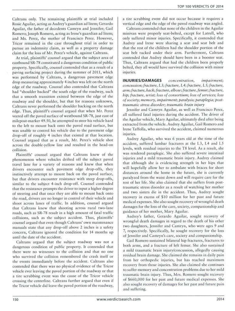 top verdicts, Ordaz Law, APC