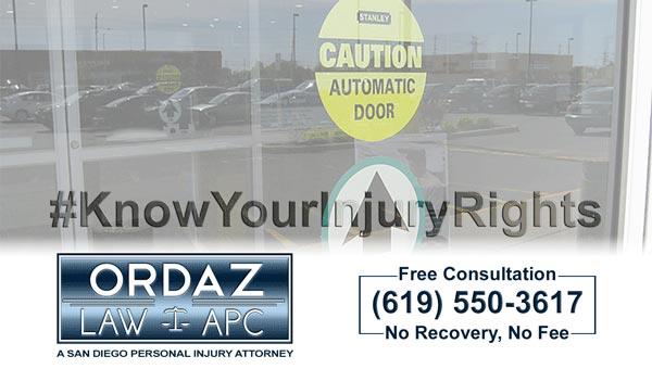 automatic door, Ordaz Law, APC