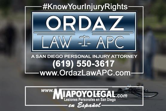 bicycle accident attorney, Ordaz Law, APC