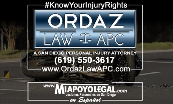 motorcycle accident lawyer, Ordaz Law, APC