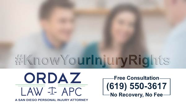 San Diego personal injury attorney, Ordaz Law, APC